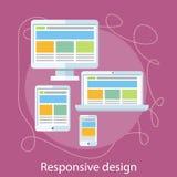 Concept sensible de web design Photos stock