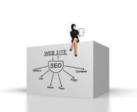 Concept SEO Stock Foto