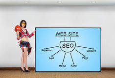 Concept SEO Stock Afbeelding
