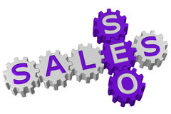 Concept: SEO and Sales. 3D rendering. Stock Images