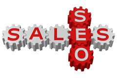 Concept: SEO and Sales. 3D rendering. Stock Photo