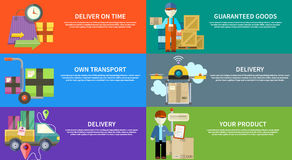 Concept of services in delivery goods Royalty Free Stock Images