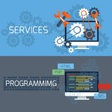 Concept for services and programming Stock Photo