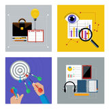 Concept set for business Stock Photo