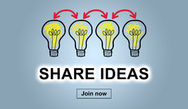 Concept of sharing ideas Royalty Free Stock Photo