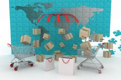 concept of shipping everywhere Royalty Free Stock Photography