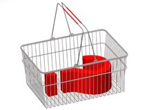 Concept shopping basket Royalty Free Stock Images