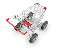 Concept shopping cart Royalty Free Stock Images