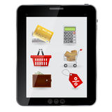 Concept of Shopping icons set Stock Images