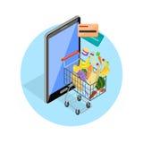 Concept of Shopping Internet Shop Royalty Free Stock Photos