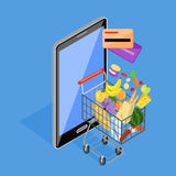 Concept of Shopping Internet Shop Stock Images