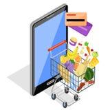 Concept of Shopping Internet Shop Stock Photography
