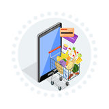 Concept of Shopping Internet Shop Royalty Free Stock Image