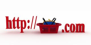 Concept of shopping on the web sites of commercial Stock Photo