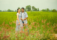 Concept shot  of Asian young couple in love . Royalty Free Stock Photography