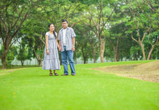 Concept shot  of Asian young couple in love . Stock Images