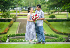 Concept shot  of Asian young couple in love . Royalty Free Stock Photo