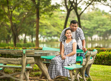 Concept shot  of Asian young couple in love . Royalty Free Stock Images