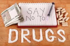 Stop drugs Royalty Free Stock Photography