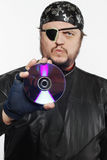Concept shot of man as Internet pirate Stock Photo