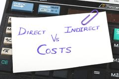 Cost calculation. Concept shot showing cost calculation royalty free stock photography