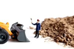 Stop illegal earth digging Royalty Free Stock Images