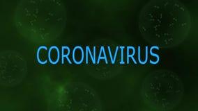 Concept showing of New Chinese Coronavirus or SARS on virus like green background