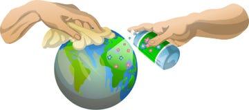 Grand nettoyage de planète Photos stock