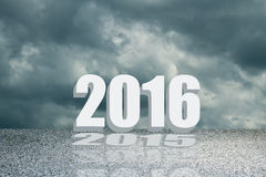 2016 concept in sign and text Stock Image