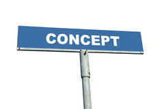 Concept signpost Royalty Free Stock Photography