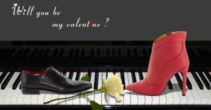 Concept simple d'amour avec des chaussures Photo libre de droits