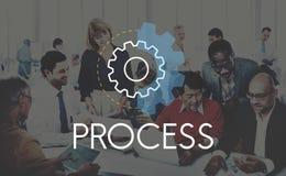 Concept simple de Word d'icône de processus d'arrangements image libre de droits
