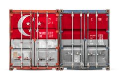 The concept of export-import and national delivery of goods royalty free stock photo