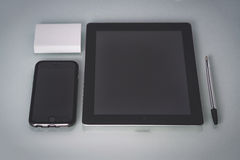 Concept for the site Tablet PC and phone Royalty Free Stock Photo