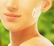 Concept of skincare and eco cosmetic Royalty Free Stock Images