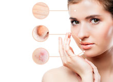 Concept of skincare Stock Photos