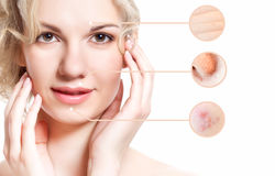 Concept of skincare Royalty Free Stock Photos