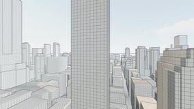 Concept skyscrapers blueprint