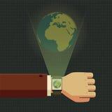 Concept slim horloge Vector Illustratie