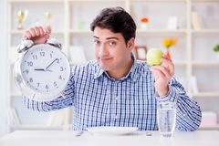 The concept of slow service in the restaurant. Concept of slow service in the restaurant Stock Image