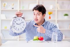 The concept of slow service in the restaurant. Concept of slow service in the restaurant Stock Photography
