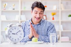 The concept of slow service in the restaurant. Concept of slow service in the restaurant Stock Photo