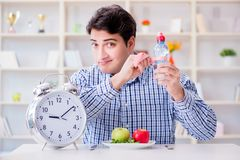 The concept of slow service in the restaurant. Concept of slow service in the restaurant Royalty Free Stock Image