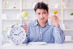 The concept of slow service in the restaurant. Concept of slow service in the restaurant Stock Images