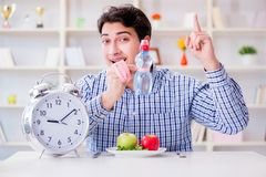 The concept of slow service in the restaurant. Concept of slow service in the restaurant Royalty Free Stock Photo