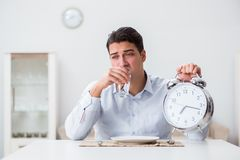 The concept of slow service in restaurants Stock Photography