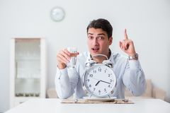 The concept of slow service in restaurants Royalty Free Stock Photos