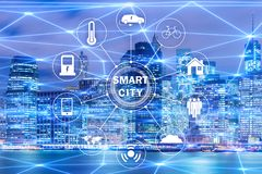 The concept of smart city and internet of things. Concept of smart city and internet of things royalty free stock photo