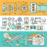 Concept of Smart Home and Control Device royalty free illustration