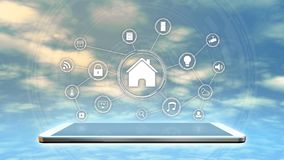 Concept of smart home Stock Image